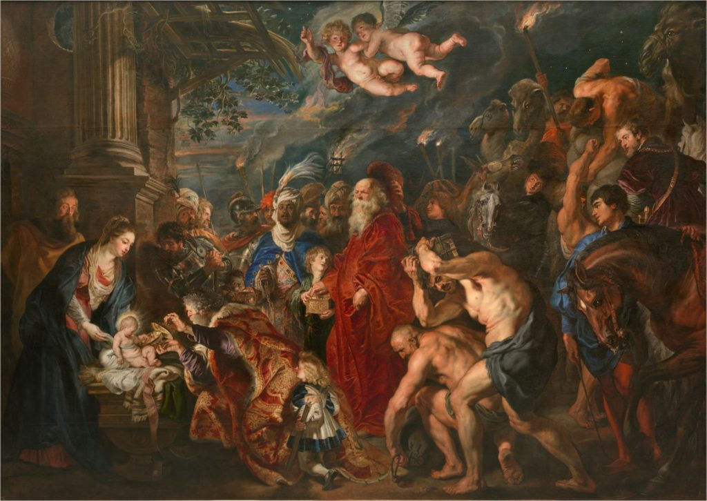 La Adoración de los Magos de Rubens, 1609. Óleo sobre lienzo, 355,5 x 493 cm. ©Museo Nacional del Prado
