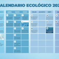 El calendario ecológico de 2021