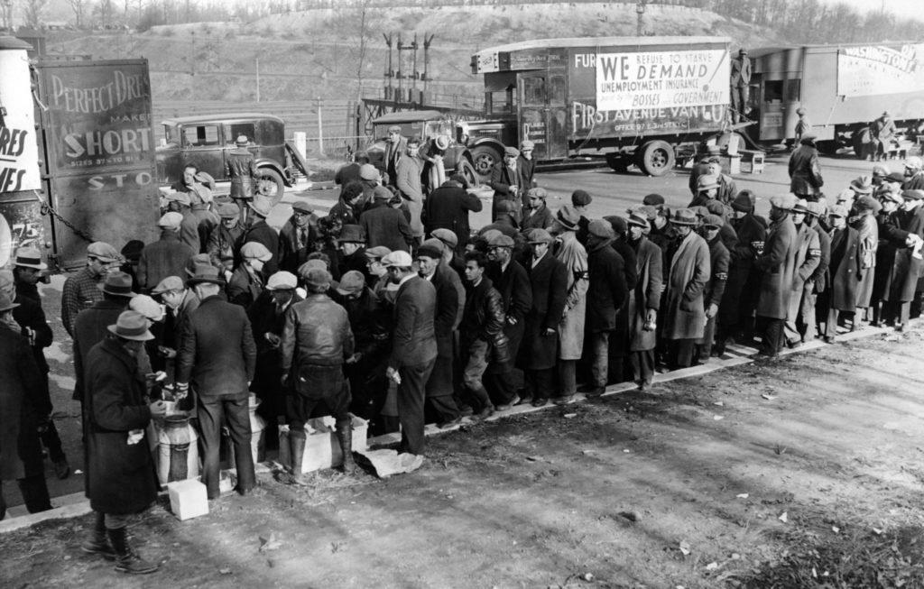 Cola del hambre en estados unidos durante la época de la Gran Recesión. | FOTO: Everett Collection