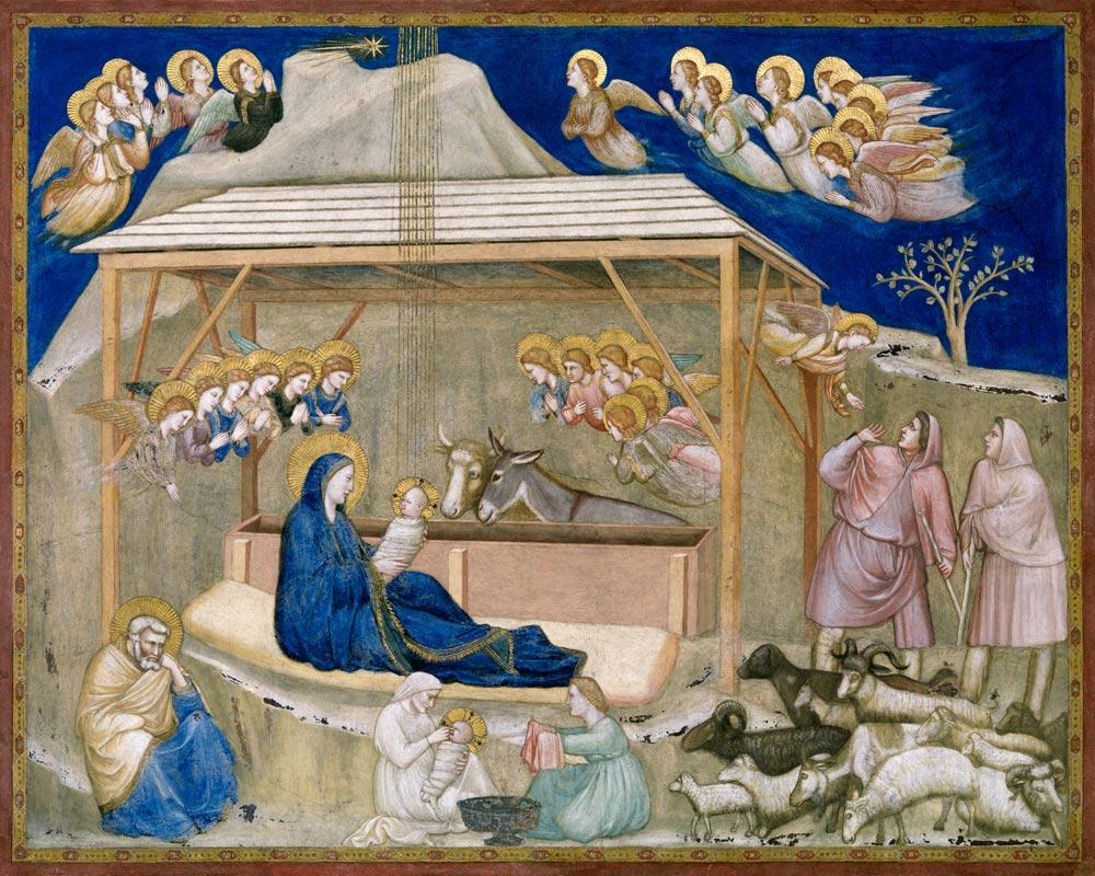 La Adoración de los Reyes Magos, fresco de Giotto di Bondone fechado a principios del siglo XIV.