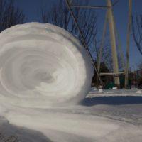 ¿Sabías que la naturaleza puede moldear rosquillas en la nieve?