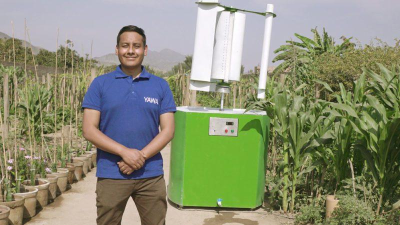 La ONU reconoce como Campeón de la Tierra a un joven que obtiene agua potable de la niebla