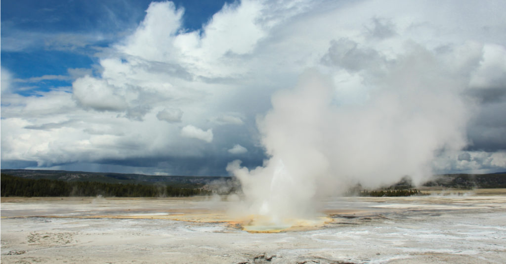 El Steamboat Geyser, en Yellowstone. | FOTO: Kate N
