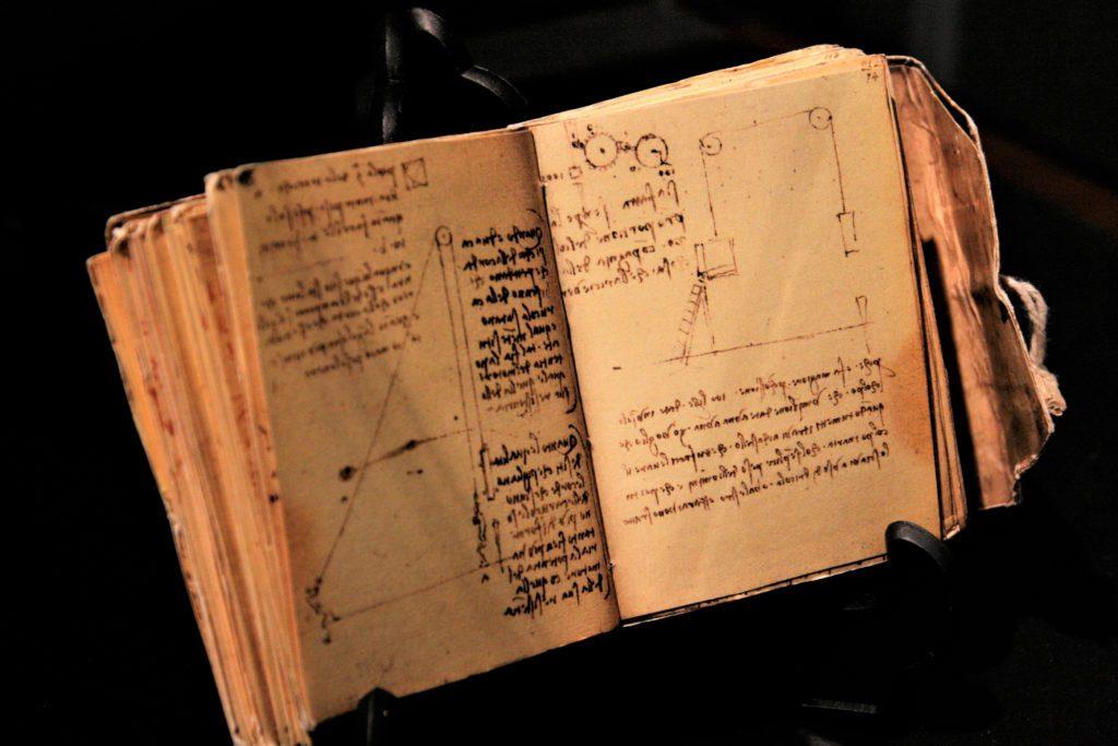 Uno de los códices originales de Leonardo da Vinci.   FOTO: Kim Jihyum