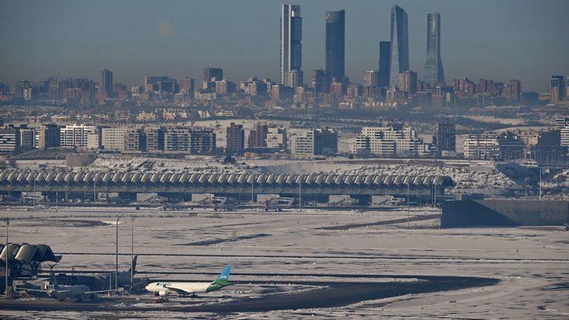 Las vistas aéreas de Madrid tras el paso de Filomena