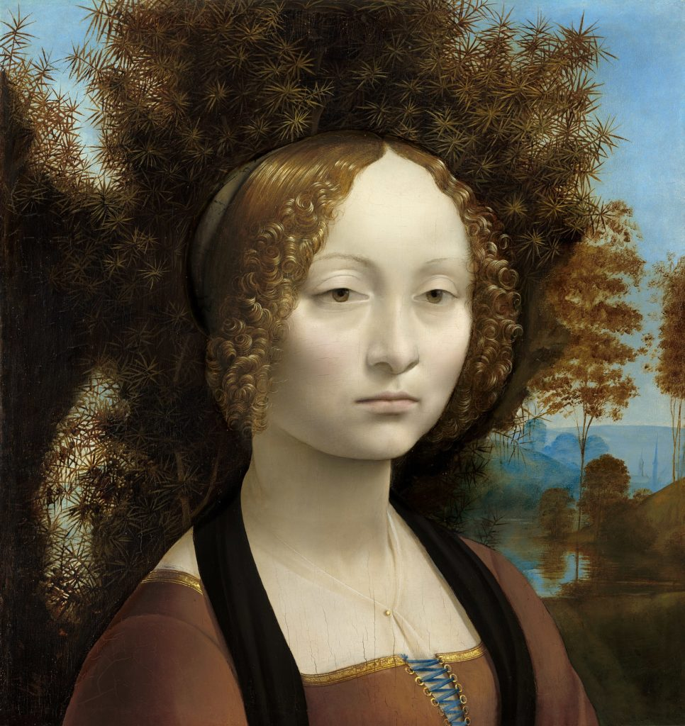 Retrato de Ginevra de Benci, obra de Leonardo da Vinci