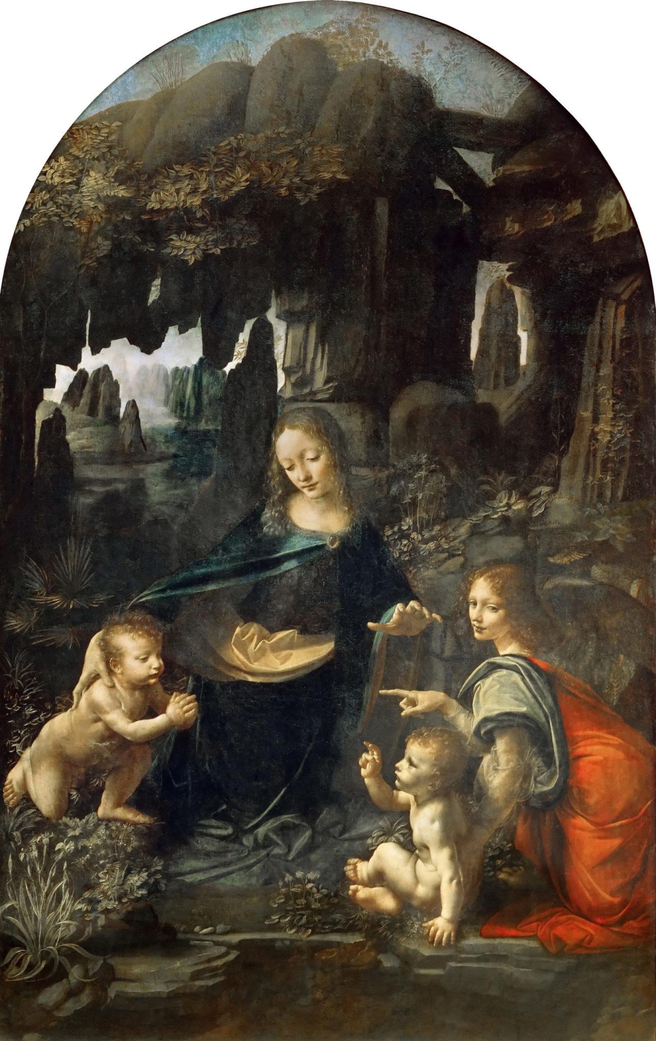 La Virgen de las Rocas, de Leonardo da Vinci, una obra de la que existen dos versiones y que en esta imagen corresponde a la del Louvre