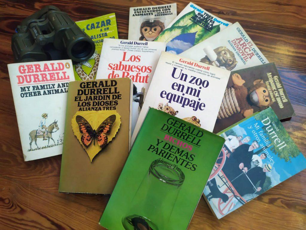 Colección de libros de Gerald Durrell.   FOTO: Antonio Sandoval