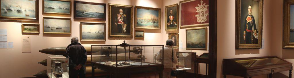 Imagen panorámica de una de las salas.   Crédito: Museo Naval