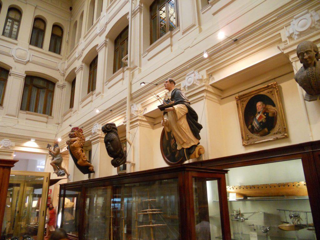 Mascarones de proa.   Crédito: Museo Naval