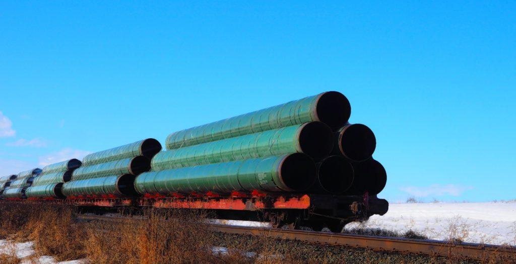 Tuberías destinadas a la construcción del oleoducto Keystone entre EEUU y Canadá.   FOTO: Bruce Raynor