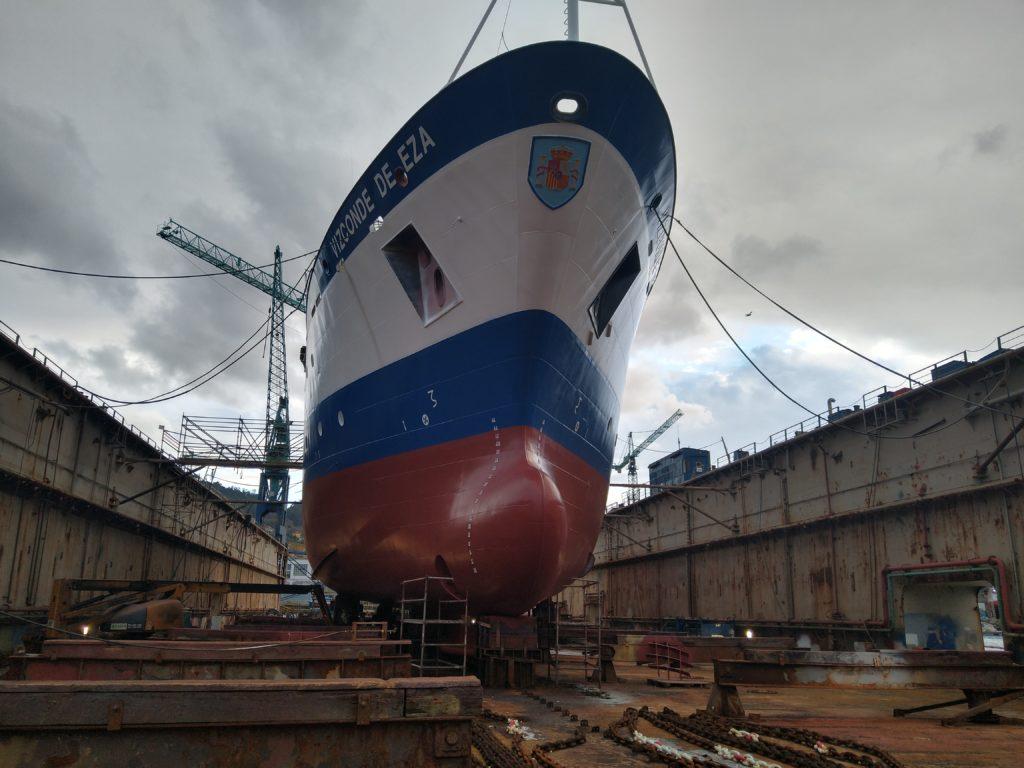 El buque de investigación Vizconde de Eza, del MAPA.