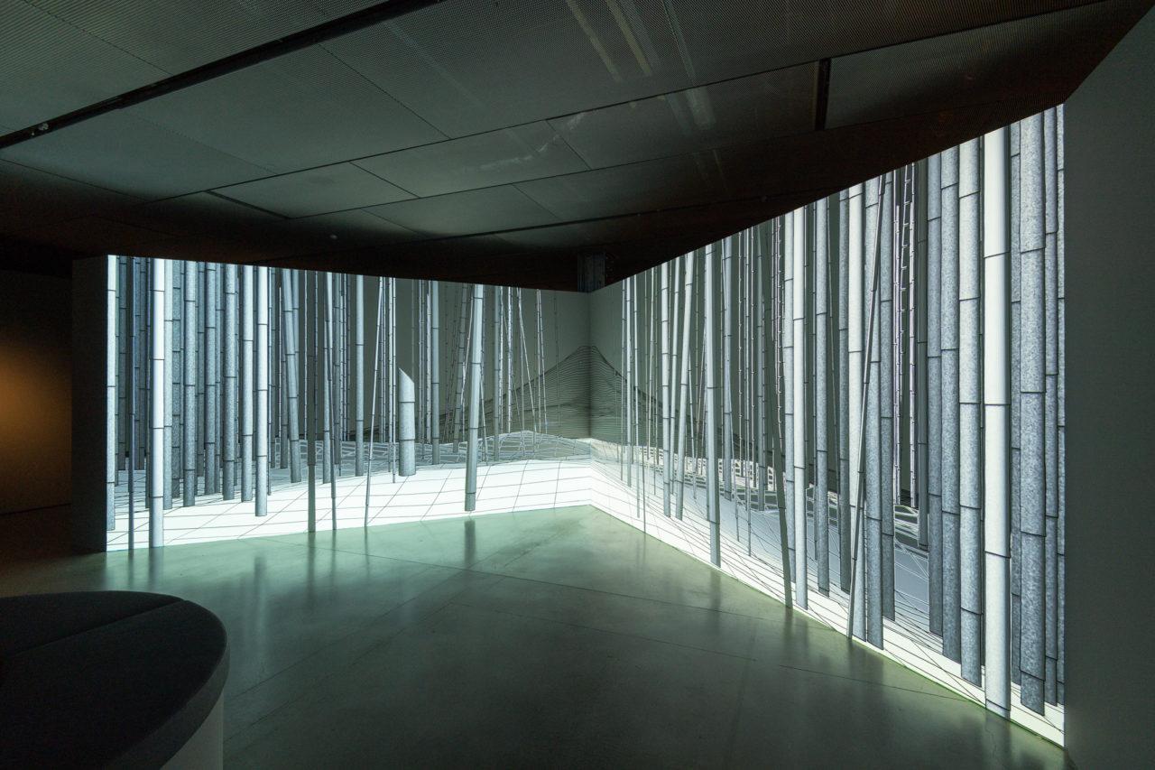 Fuji, uno de los montajes digitales del artista francés Joanie Lemercier que pueden apreciarse en la exposición del Espacio Fundación Telefónica.