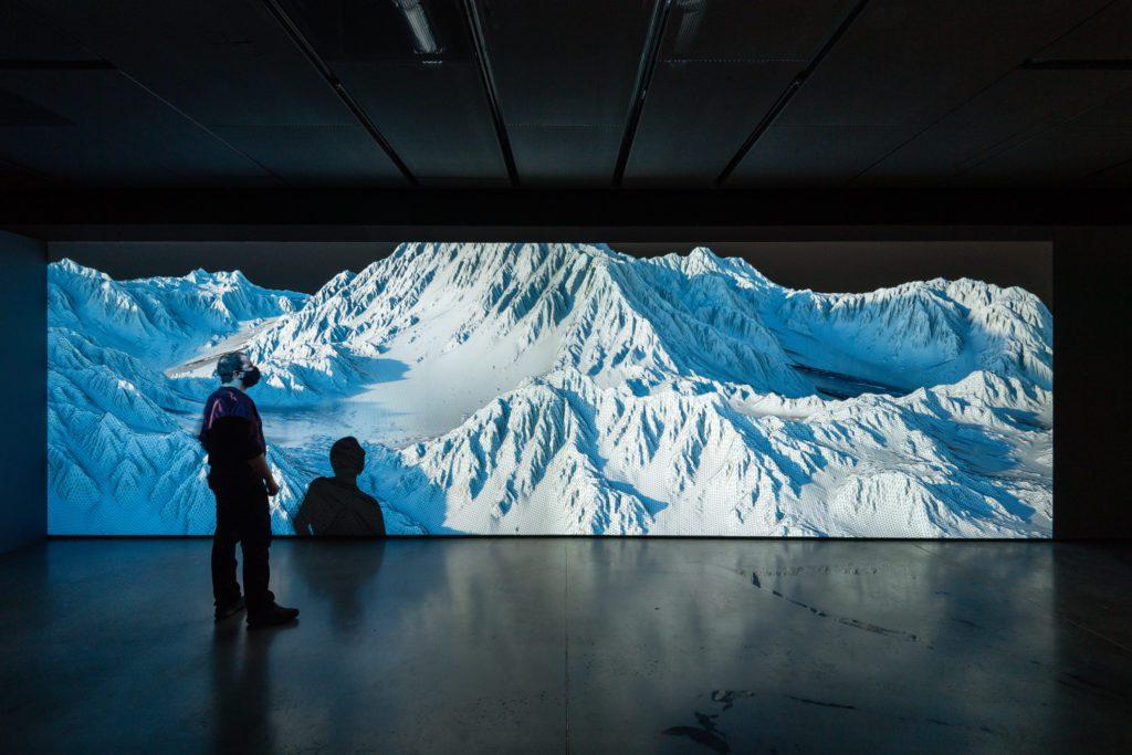 'Montagne, cent quatorze mille polygones', obra de Joanie Lemercier. | Crédito: Fundación Espacio Telefónica
