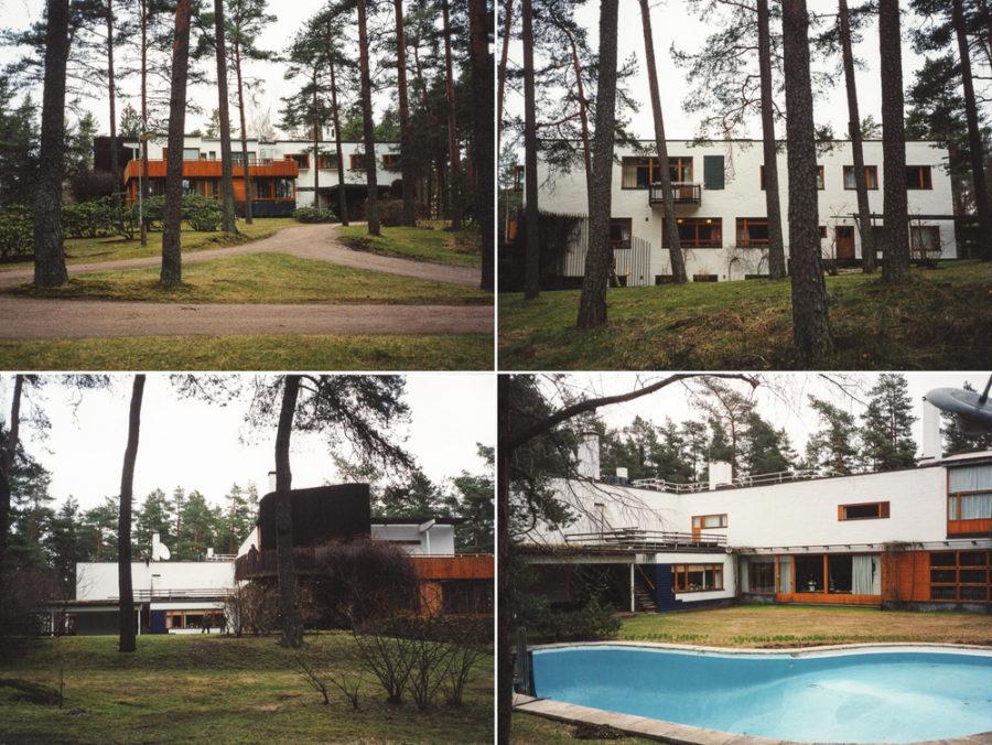 Montaje de fotos con distintas persperctivas de Villa Mairea, construcción del arquitecto finlandés Alvar Aalto. | FOTO: Claudio Divizia