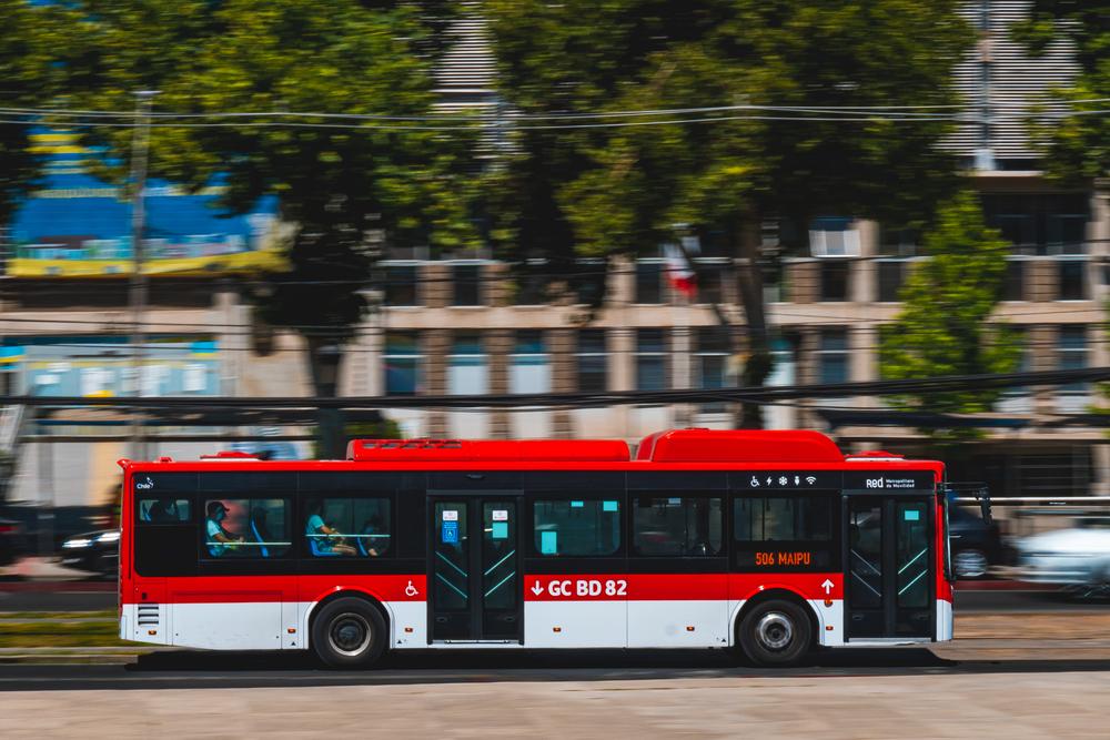Un autobús de Transantiago, en Chile.   FOTO: Cristian Silva Villalobos