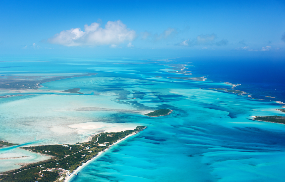 Vista aérea de las islas Bahamas. | FOTO: Blue Orange Studio