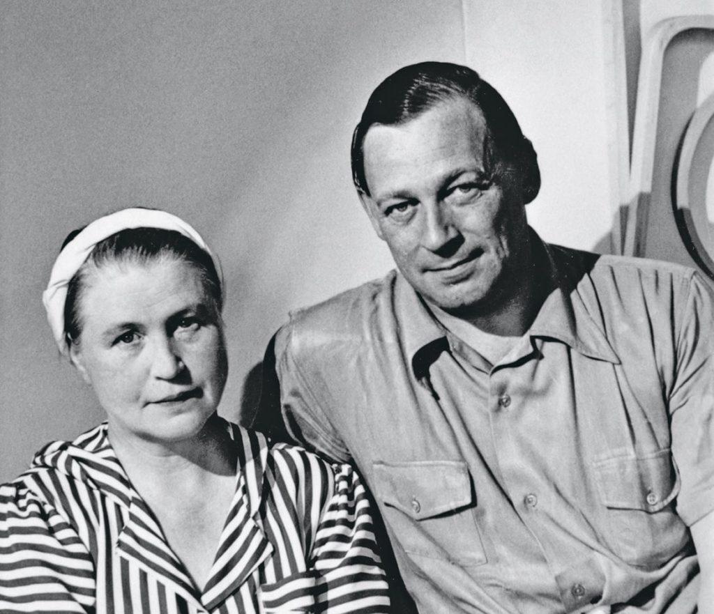 El arquitecto Alvar Aalto y su mujer y colaboradora Aino Marsio en una foto de 1940.