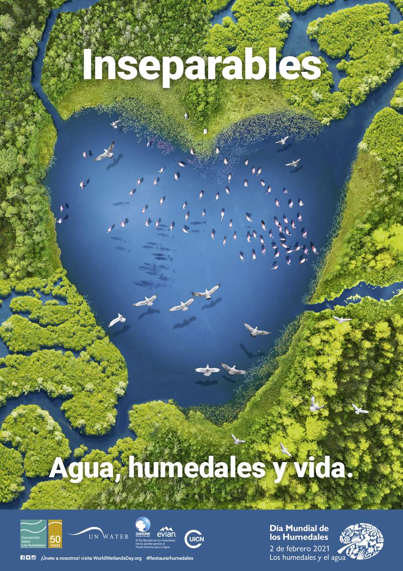 Cartel del Día Mundial de los Humedales de 2021.