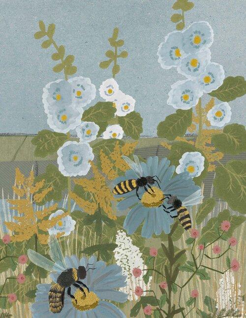 Ilustración de 'Emily Mayor' para el libro La filosofía de las abejas de Alison Davies