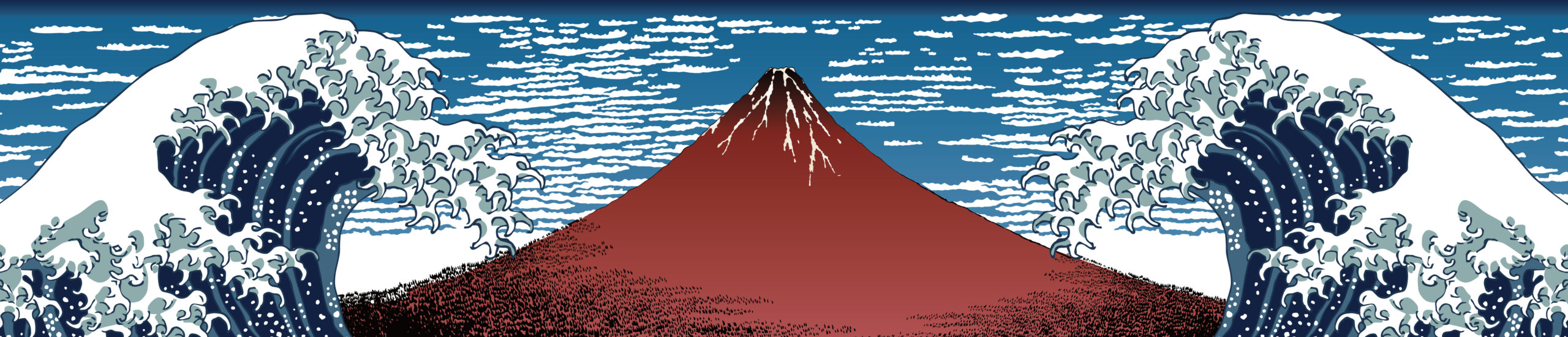 Reinterpretación de la ola de Hokusai.   CRÉDITO: Kimasa