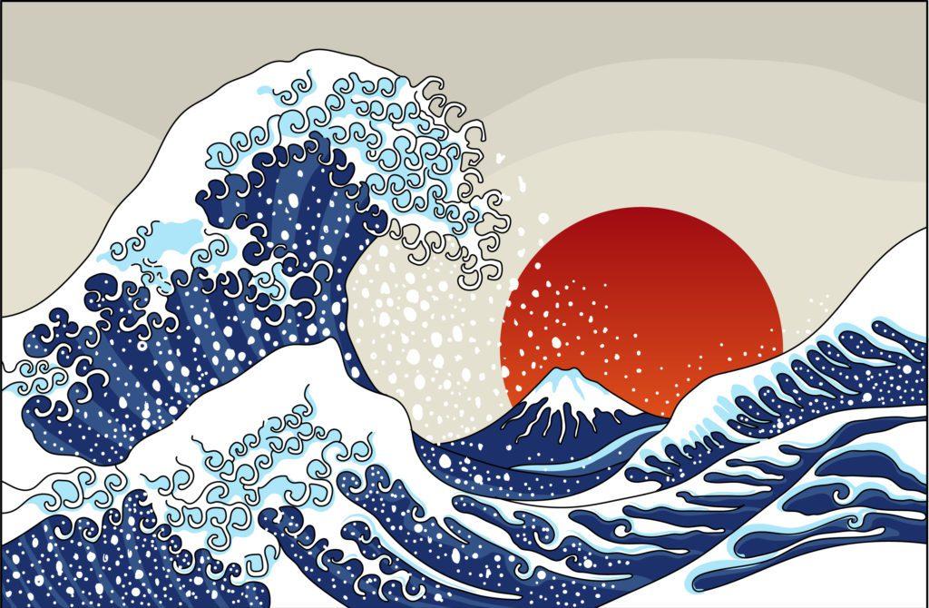 Versión moderna del cuadro de Hokusai.   CRÉDITO: Syquallo