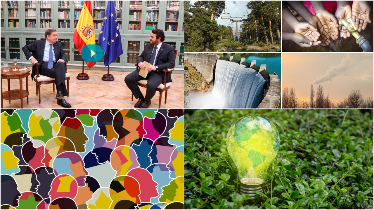 Luis Planas, ministro de Agricultura, Pesca y Alimentación, inaugura los Diálogos del Ágora