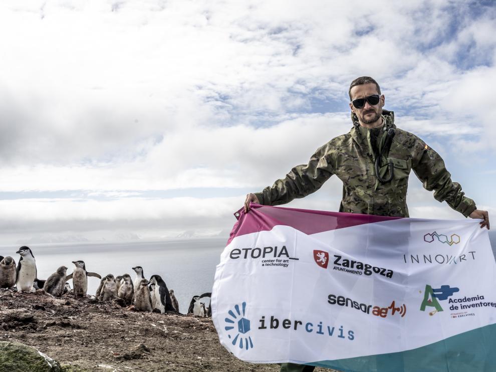 Campaña de Desafío Bajozero en la Antártida en 2019.   FOTO: Fundación Ibercivis