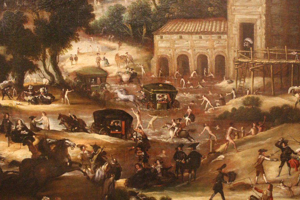 Baños en el Manzanares en el paraje de Molino Quemado, obra de Félix Castelo, circa 1630