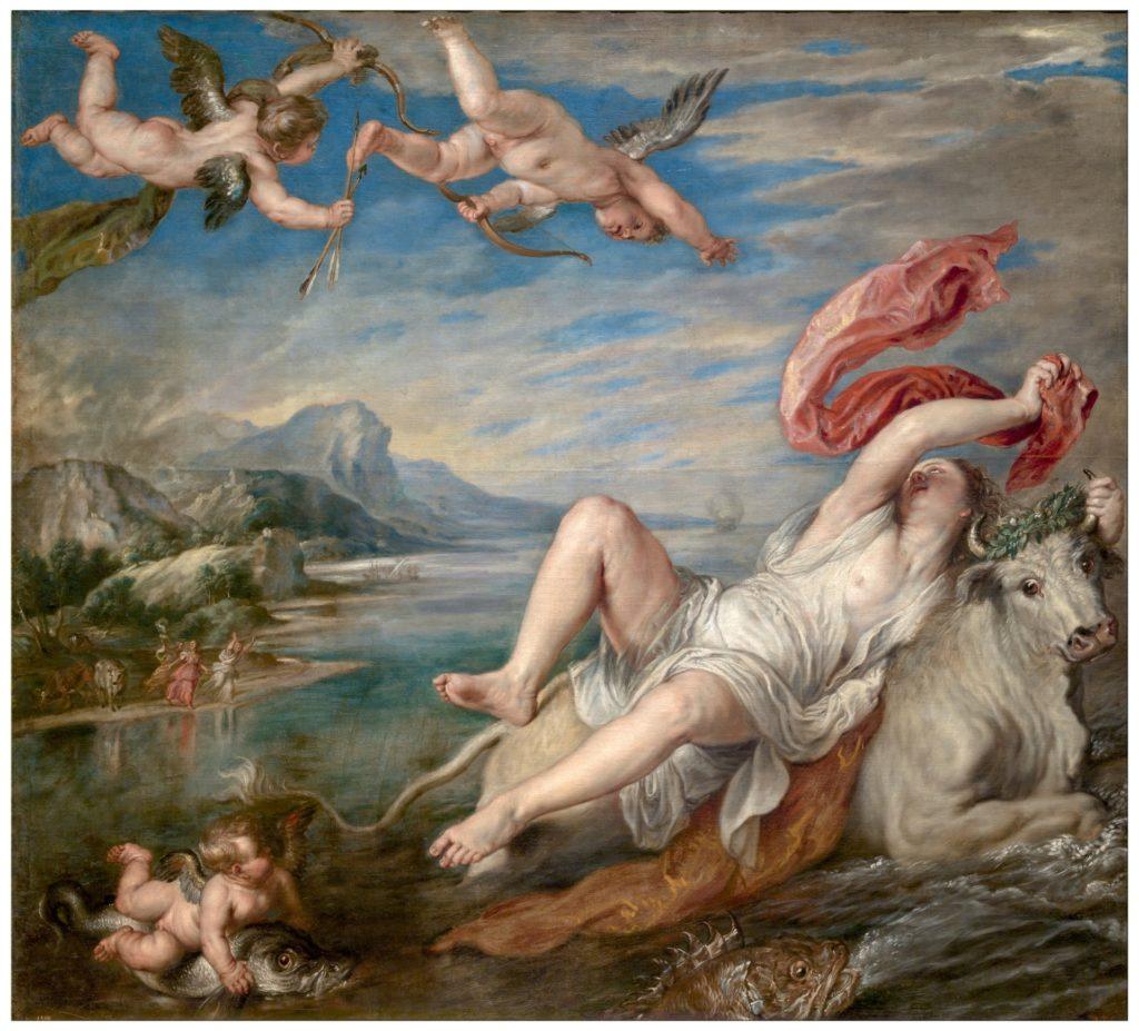 El rapto de Europa, obra de Tiziano fechada hacia 1560. | FOTO: Museo del Prado