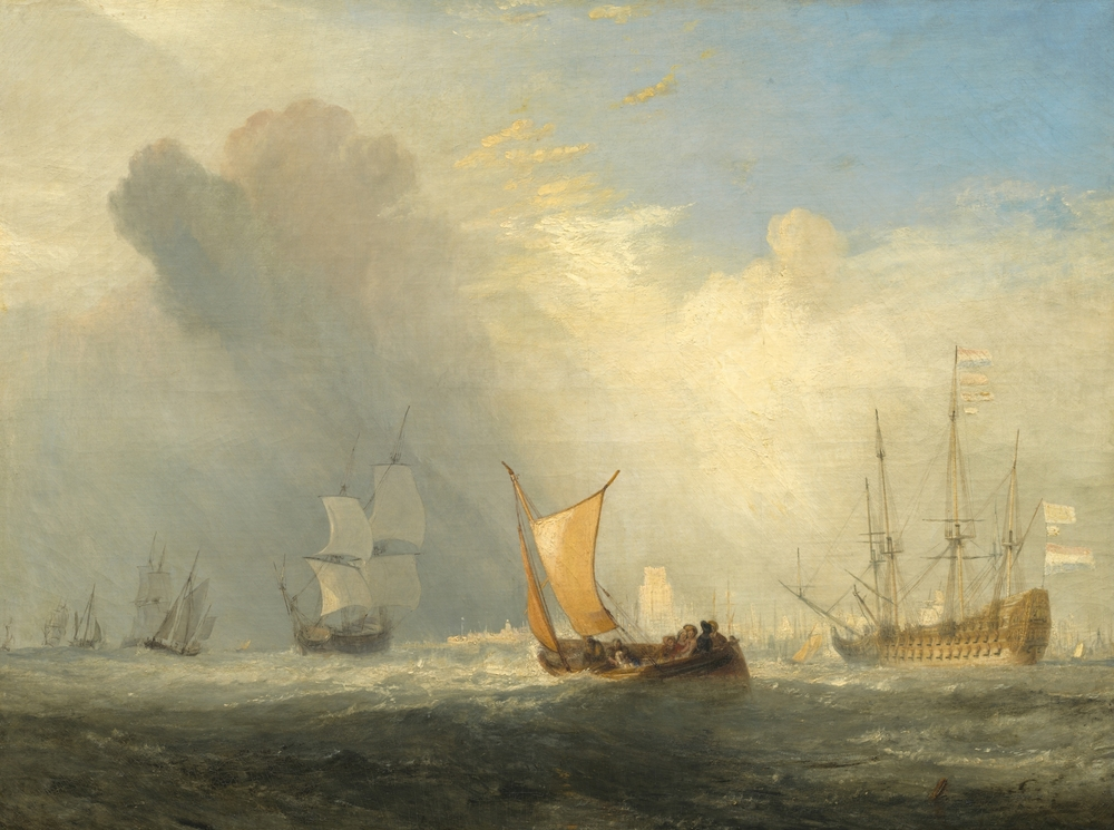 Ferry-Boat de Rotterdam, por Joseph Mallord William Turner, 1833.   Everett Collection