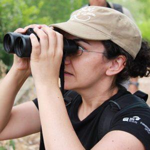 Arantza Leal coordina el proyecto de seguimiento de halcones en la Comunidad de Madrid.   FOTO: SEO/BirdLife