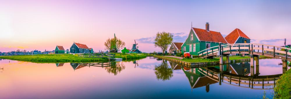 Hermoso paisaje holandés en la comarca de Zaanse Schans. | FOTO: Pajor Pawel