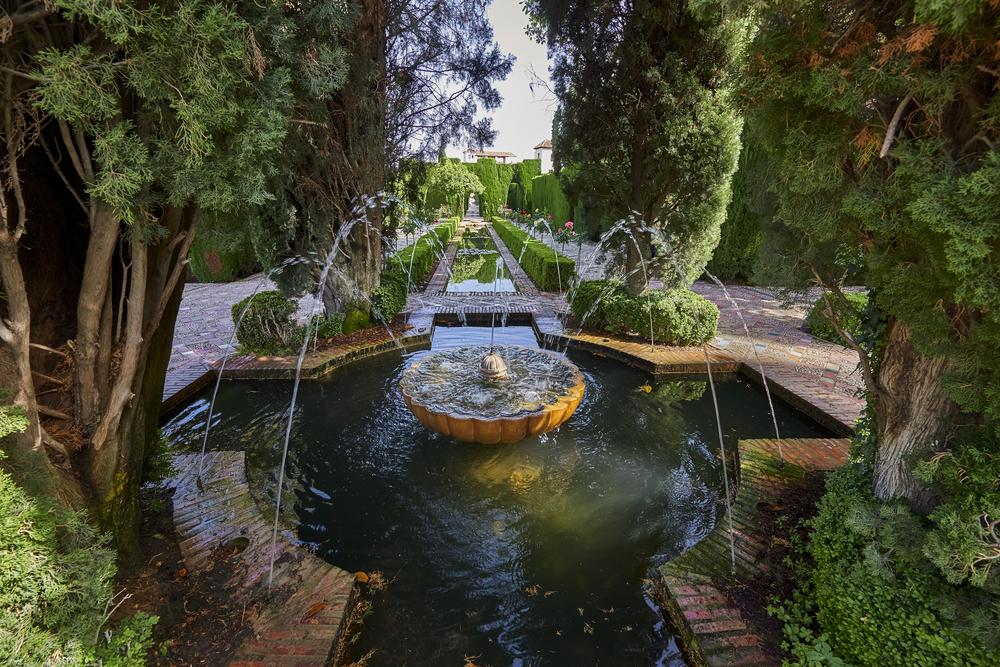 Jardines del Generalife en Granada, una muesstra maestra del uso del agua para la belleza y el bienestar FOTO Jan Miko