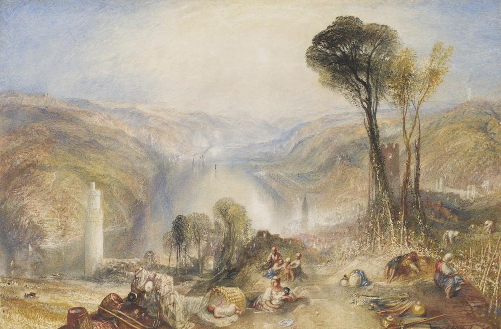 Oberwesel, 1840, acuarela y gouache de oseph Mallord William Turner.   Everett Collection