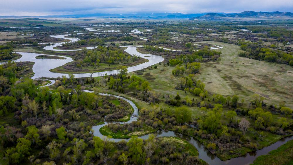 Three Forks, cerca del nacimiento del río Missouri en Estados Unidos. | FOTO: Joseph Sohm