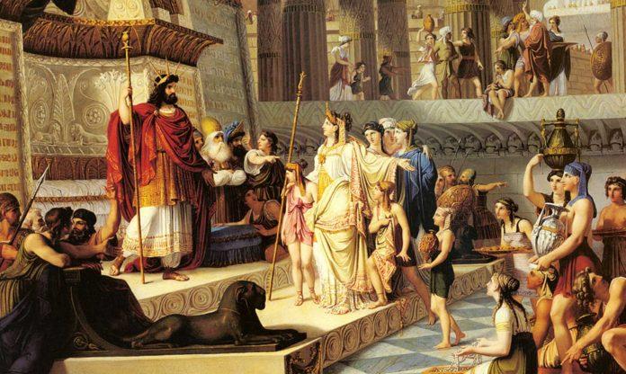 encuentro entre el Rey Salomón y la reina de Saba.