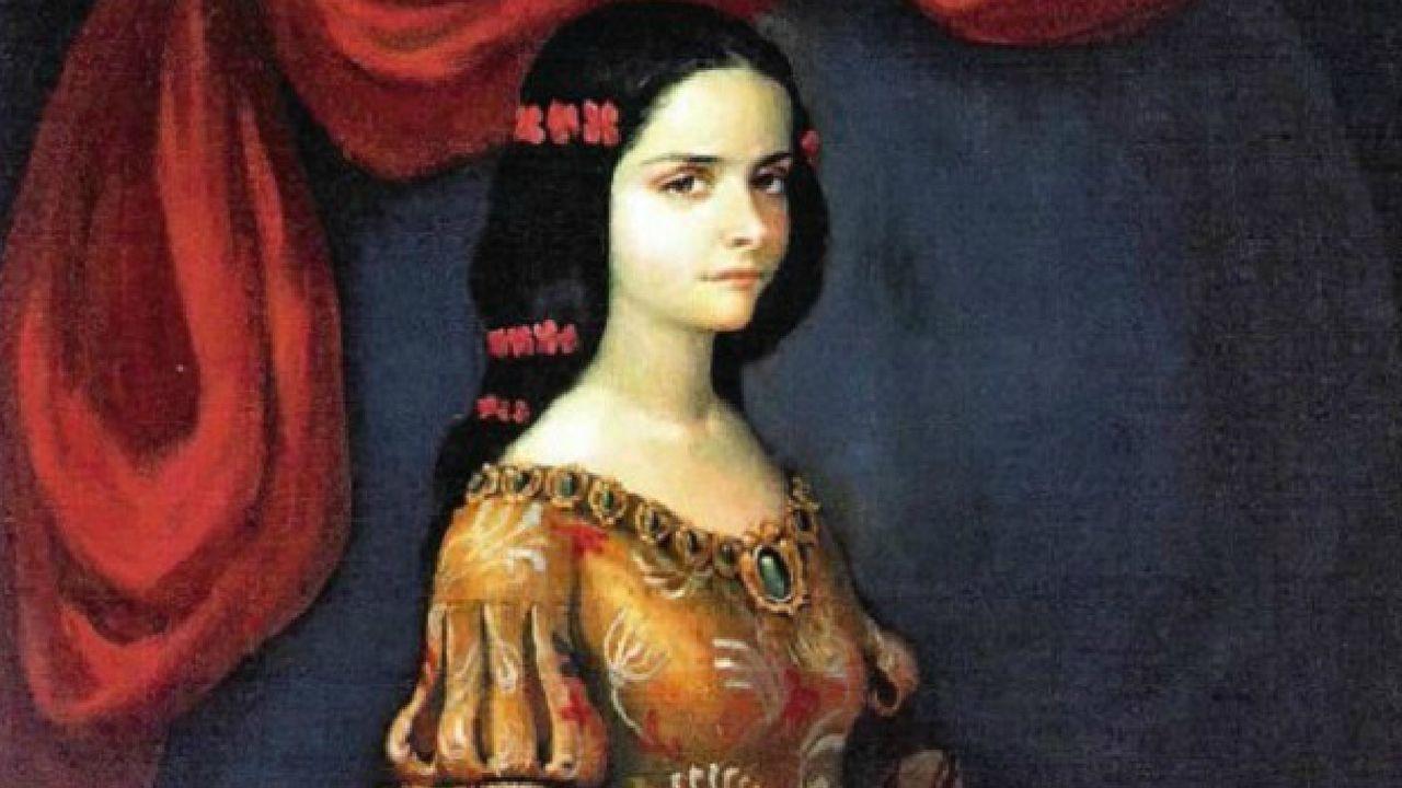 Retrato de época de la primera almirante española, Isabel Barreto