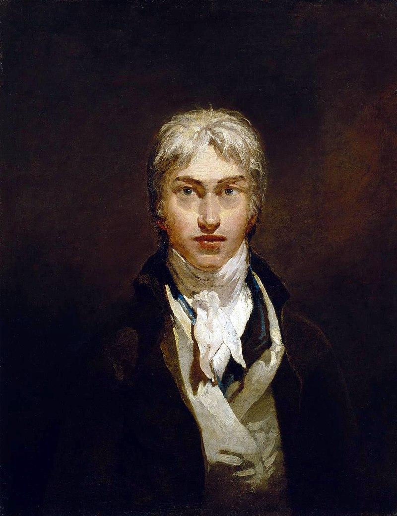 Autorretrato de Turner, elaborado cuando contaba con 24 años.