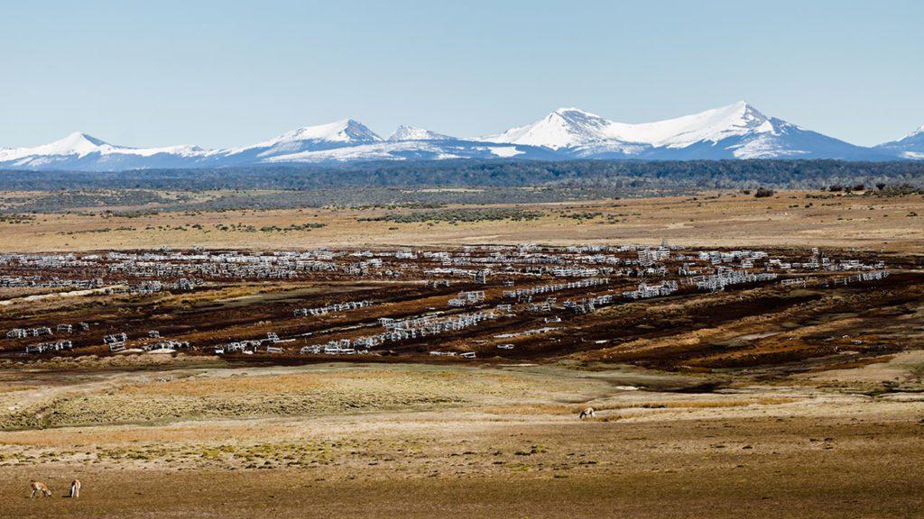 Explotación de turba en Tierra del Fuego, Chile.