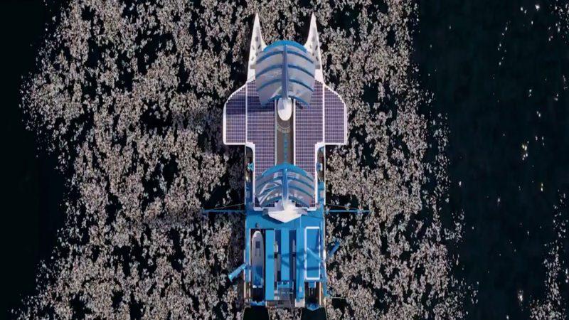 'Manta', el catamarán gigante que limpiará los océanos de plástico