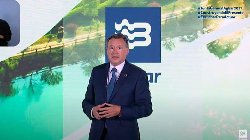 Ángel Simón en el evento de Agbar