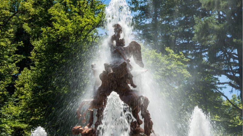 El espectáculo estival de las fuentes de la Granja de San Ildefonso