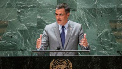Sánchez apela a las alianzas en su discurso en Nueva York