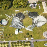 Una pintura de 11.000 metros acoge a la Asamblea de la ONU